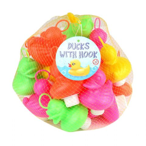 Coloured Weighted Ducks With Hooks Garden Game Bath Toy Henbrandt (Pack of 20)